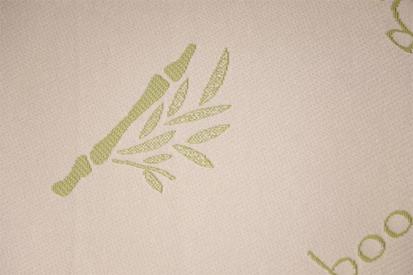 Capa de aire tejida con logo de bambú y fibra de bambú