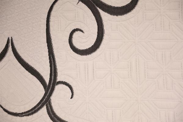Líneas blancas y negras de doble capa de aire de punto