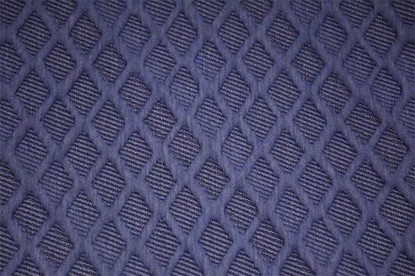 Capa de aire de punto de diamante azul