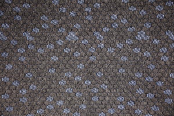Hexágono azul cáñamo capa de aire de punto gris