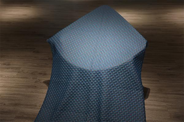 Capa de aire tejida de alta calidad de celosía azul